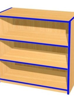 3ft-single-sided-bookcase-flat-top