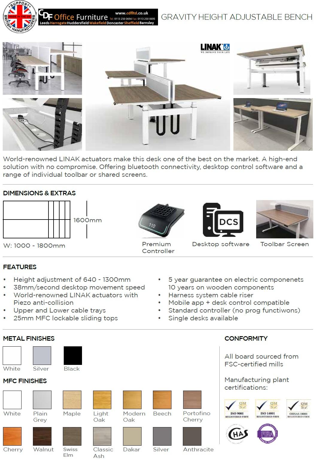 Spec Sheets Leeds Office Furniture